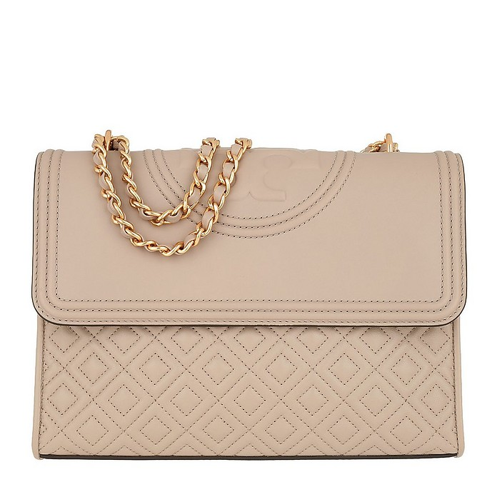 Fleming Convertible Shoulder Bag Rose - Tory Burch