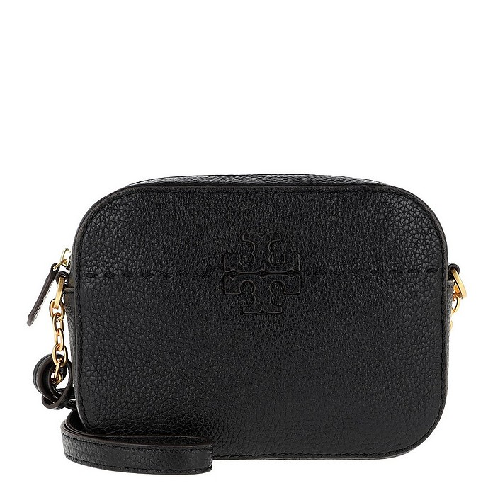 McGraw Camera Bag Leather Black - Tory Burch