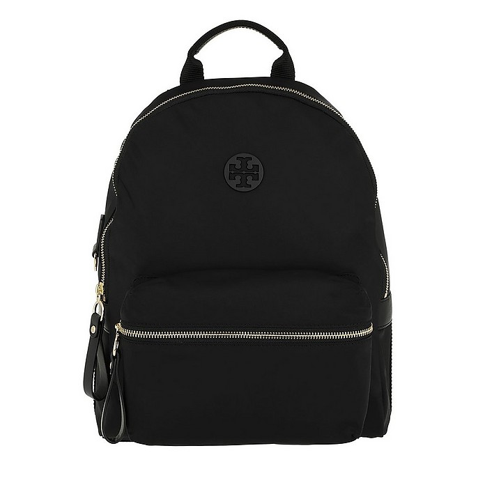 Tilda Nylon Zip Backpack Black - Tory Burch