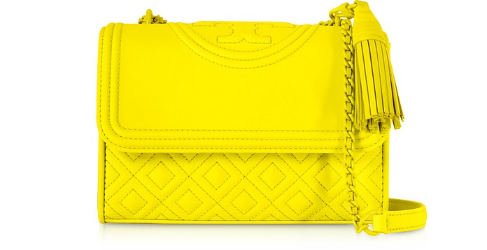 44cbbbf03e7 Tory Burch Yellow Fleming Small Convertible Shoulder Bag at FORZIERI ...