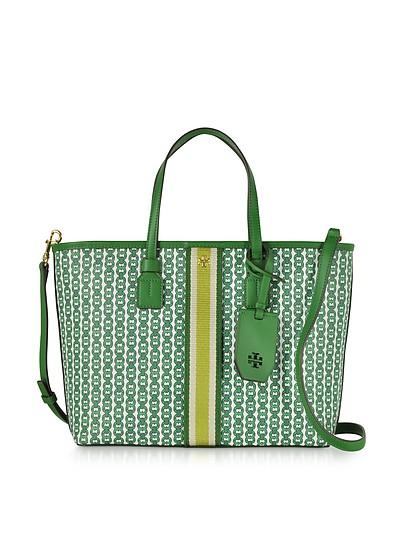 Gemini Link Shopping bag in Canvas con Logo  - Tory Burch