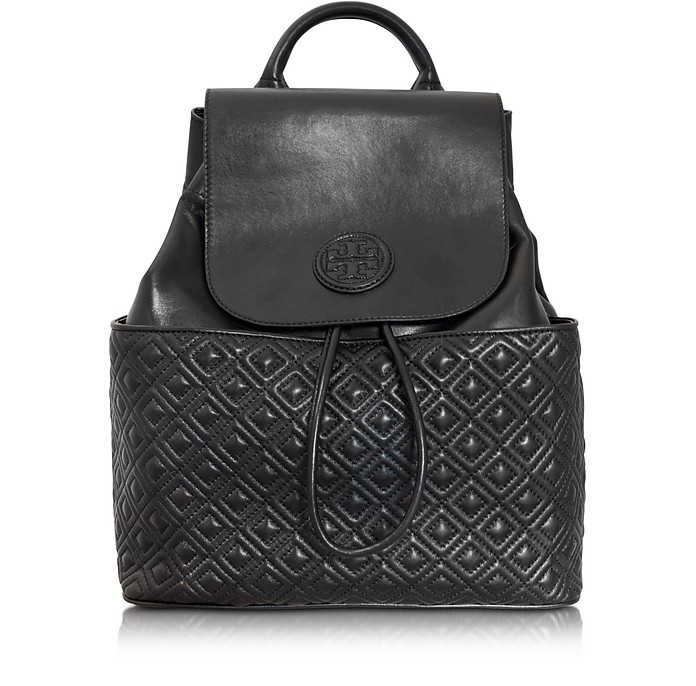 Marion Quilted Smooth Leather Backpack - Tory Burch