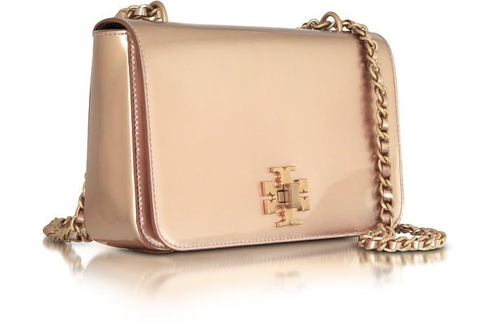 bc142ca2151 Mercer Rose Gold Metallic Leather Adjustable Shoulder Bag - Tory Burch.  £392.63 Actual transaction amount