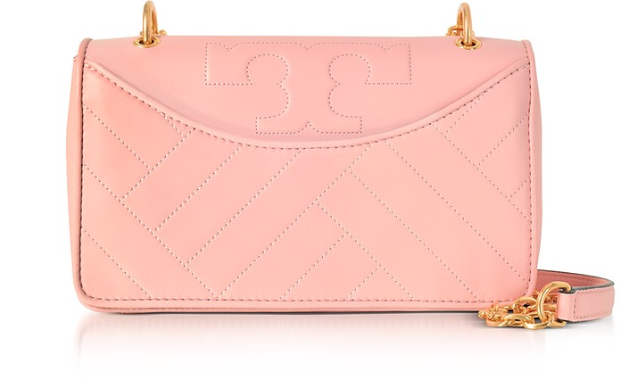 671120117dd Tory Burch Dark Pink Quartz Alexa Leather Shoulder Bag at FORZIERI UK