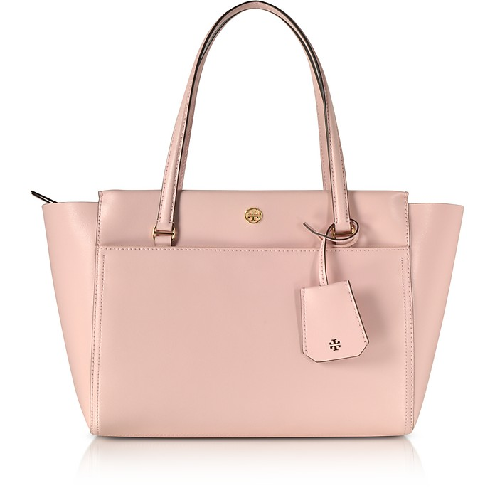 b88ae15d10d Tory Burch Pink Quartz Parker Small Leather Tote Bag at FORZIERI UK
