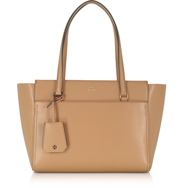 Parker Cardamom Leather Small Tote Bag - Tory Burch