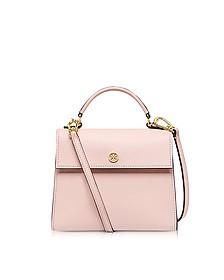 Parker Pink Quartz Leather Small Satchel Bag - Tory Burch