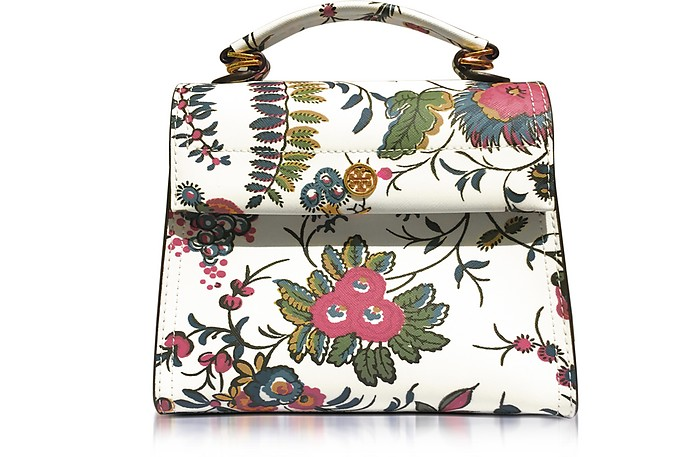 f78836f21228 Tory Burch Parker Gabriella Floral Print Leather Small Satchel Bag ...