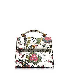 Parker Gabriella Floral Print Leather Small Satchel Bag - Tory Burch