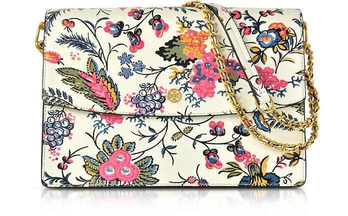 577cae0b Parker Gabriella Floral Print Leather Large Shoulder Bag