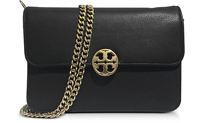 60c71c96d24 Tory Burch Black Chelsea Leather Shoulder Bag at FORZIERI UK