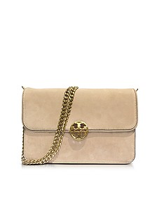 Chelsea Stucco Suede Shoulder Bag - Tory Burch