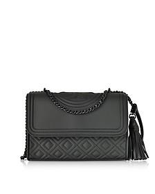 Fleming Black Matte Small Convertible Shoulder Bag - Tory Burch
