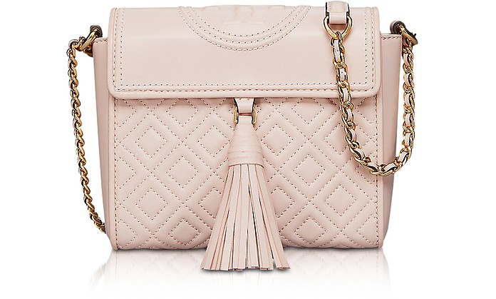 Fleming Convertible Quilted Leather Box Crossbody Bag - Tory Burch