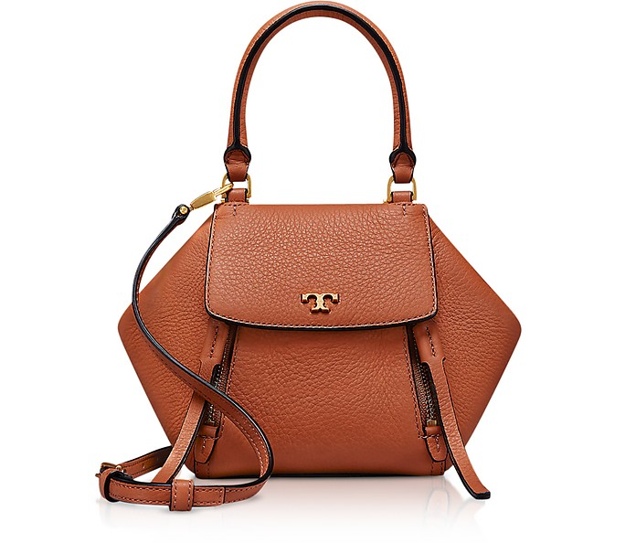 Half-Moon Micro Satchel Bag Tory Burch Biscotto jKJlHU