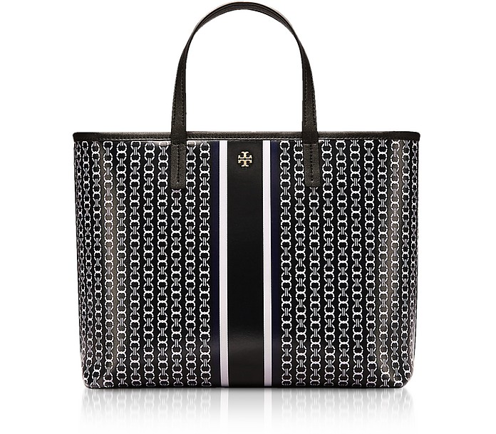 Coated Canvas Gemini Link Small Tote Bag - Tory Burch