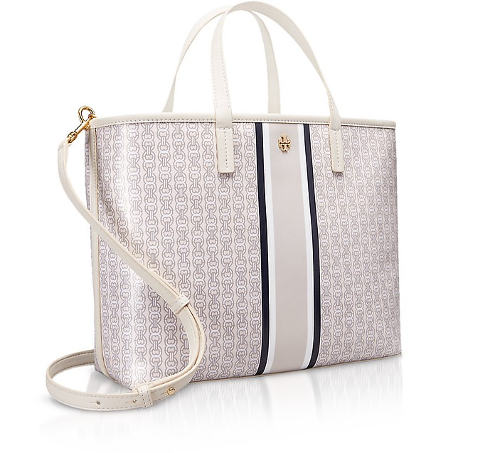 f56eb0f265f0 Coated Canvas Gemini Link Small Tote Bag - Tory Burch. Sold Out