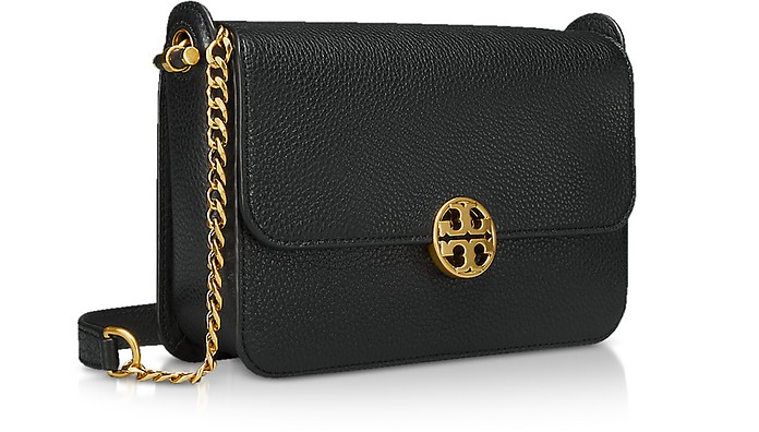 9ce40a9a1b03e Tory Burch Black Pebble Leather Chelsea Crossbody Bag at FORZIERI Canada
