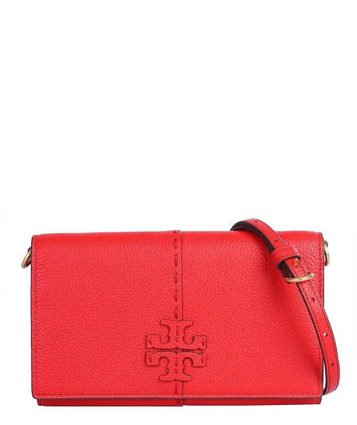 Mcgraw Leather Pouch - Tory Burch