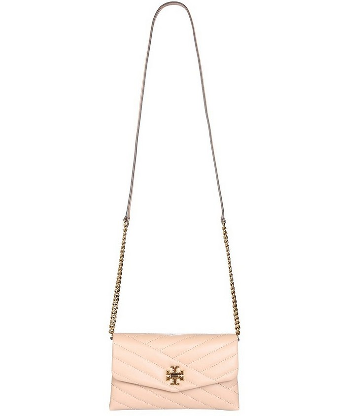 Powder Pink Quilted Kira Shoulder Bag - Tory Burch