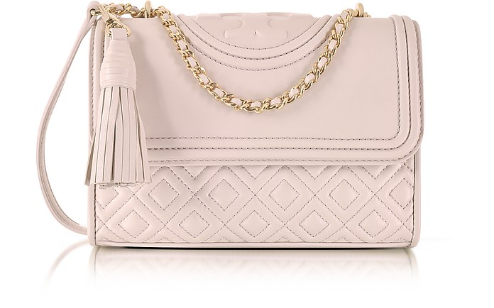 6273e46208f6 Twitter · Pinterest · Share on Tumblr. Fleming Small Convertible Leather  Shoulder Bag - Tory Burch