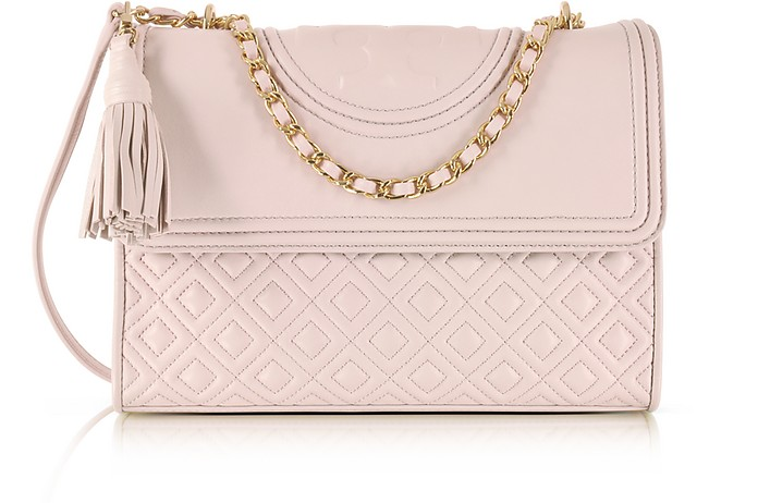 1796807a6308 Tory Burch Bedrock Fleming Convertible Leather Shoulder Bag at ...