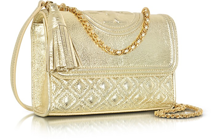 c024496dabc1 Facebook · Twitter · Pinterest · Share on Tumblr. Fleming Metallic Small  Convertible Shoulder Bag - Tory Burch