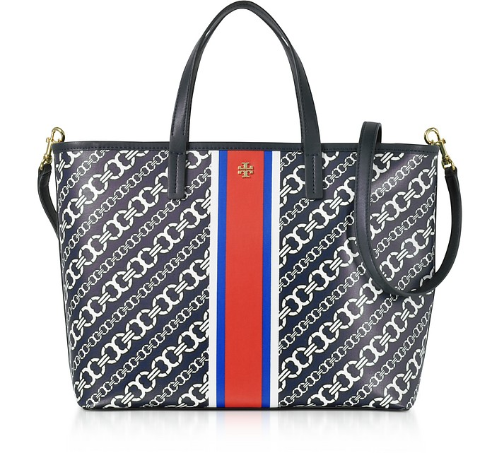 a8c00d81d97 Gemini Link Navy Coated Canvas Small Tote Bag