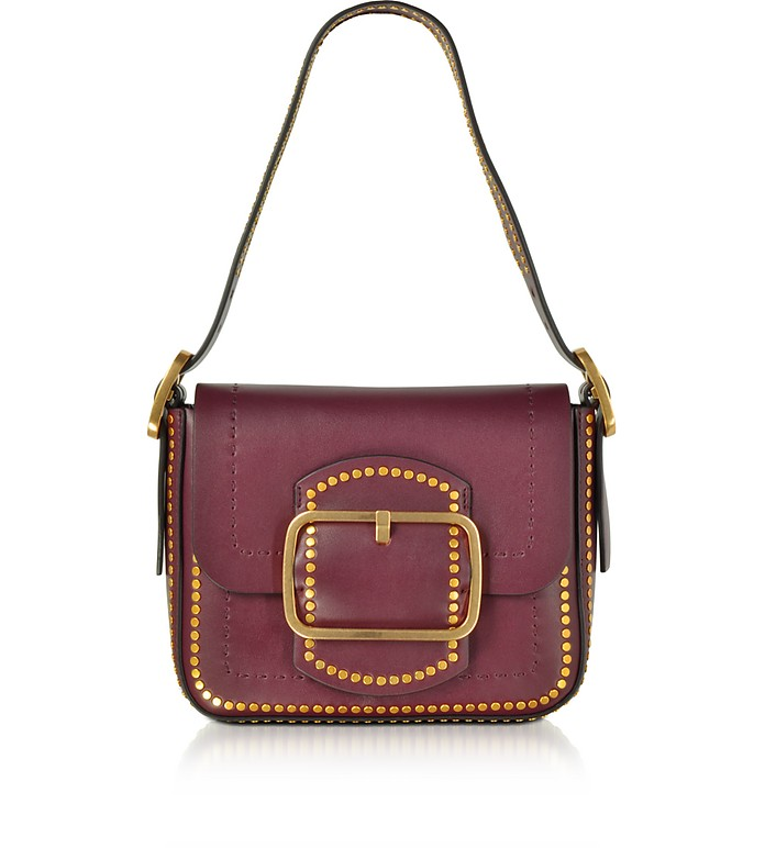 Tory Burch Sawyer Port Stud Leather Small Shoulder Bag at FORZIERI