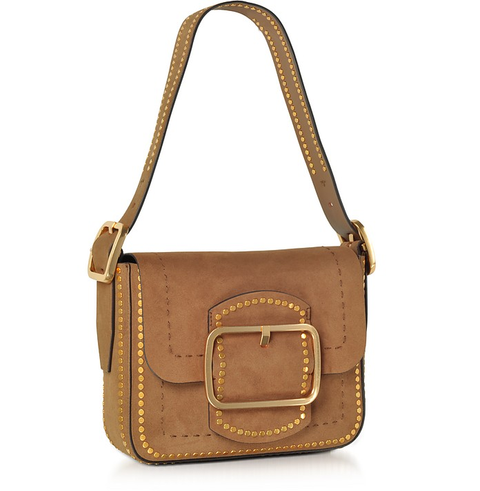 3d1afb2ad7c1 Sawyer Festival Brown Stud Suede Small Shoulder Bag - Tory Burch. Sold Out