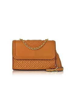 Fleming Party Light Marsala Leather Small Convertible Shoulder Bag - Tory Burch