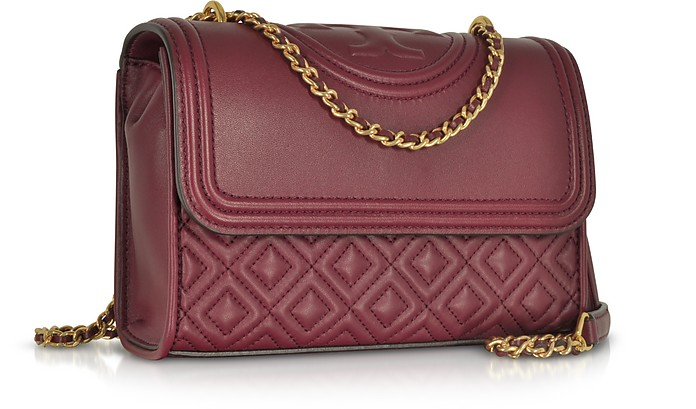 023639c2281c Facebook · Twitter · Pinterest · Share on Tumblr. Fleming Imperial Garnet Leather  Small Convertible Shoulder Bag - Tory Burch