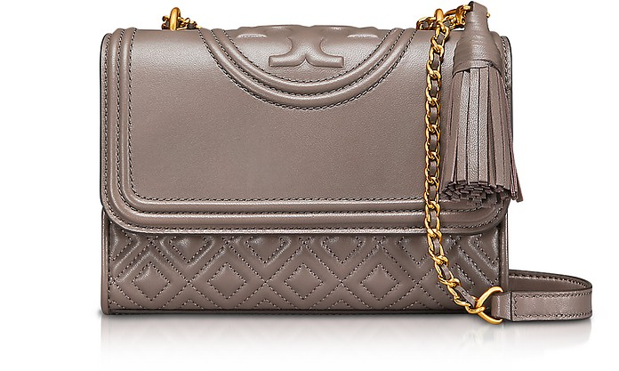 27990ec474d1 Facebook · Twitter · Pinterest · Share on Tumblr. Fleming Quilted Leather  Small Convertible Shoulder Bag - Tory Burch