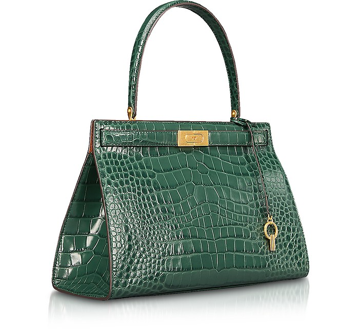 63deb6d9985b Lee Radziwill Norwood Croco Embossed Leather Satchel Bag - Tory Burch. Sold  Out