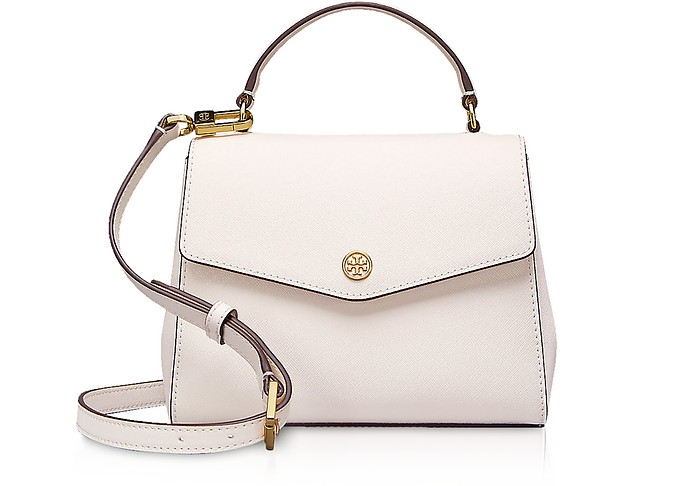 7256de5bfeba Tory Burch Birch Leather Robinson Small Top-Handle Satchel Bag at ...