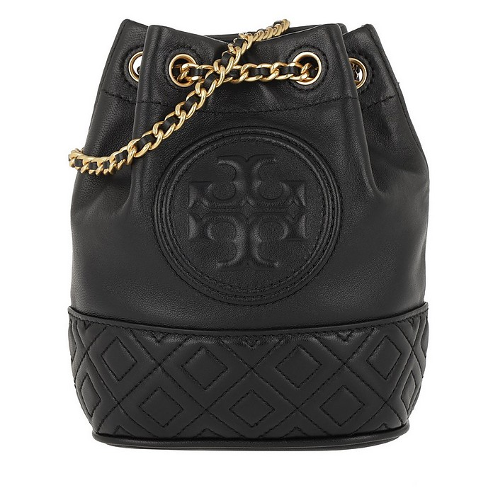 2af75bede9f Tory Burch Fleming Mini Bucket Bag Black at FORZIERI