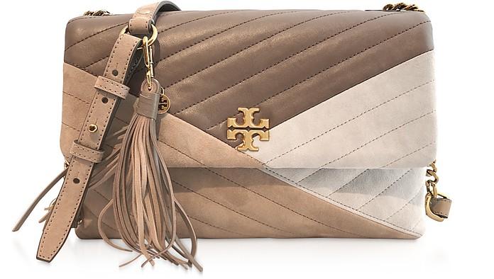 Kira Chevron Mix Convertible Shoulder Bag - Tory Burch