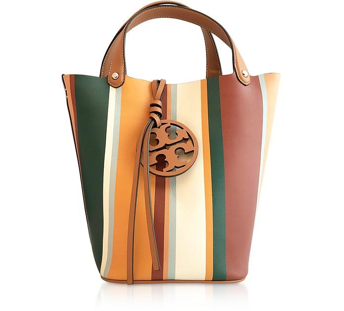 Miller Stripe Bucket Bag - Tory Burch
