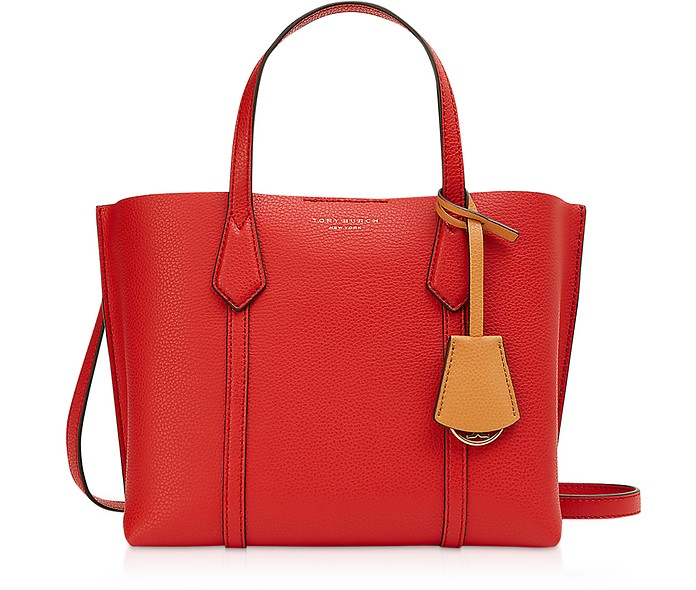 Perry Small Shopper in Pelle Rossa - Tory Burch