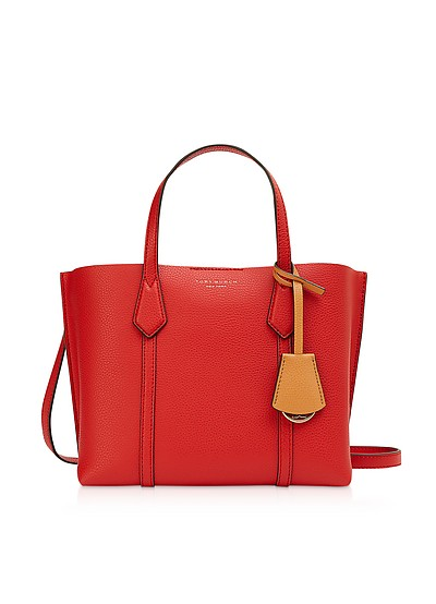 Brilliant Red Perry Small Triple-Compartment Tote - Tory Burch