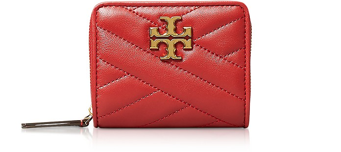 Kira Chevron Bi-Fold Wallet - Tory Burch