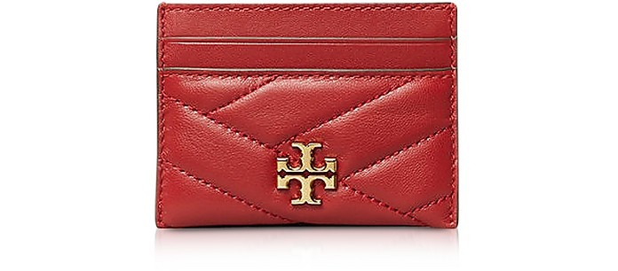 Kira Chevron Card Case - Tory Burch