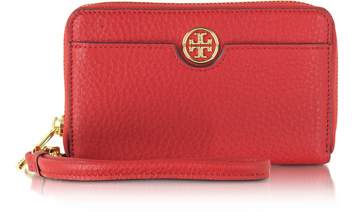 021b7af4a851 Tory Burch Kir Royale Robinson Pebbled Smartphone Wristlet Wallet ...