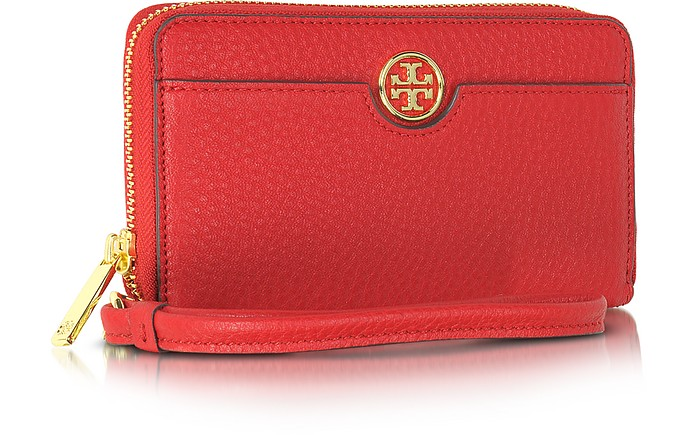 ea5cd691a79c Robinson Pebbled Smartphone Wristlet Wallet Clutch - Tory Burch. £135.00  Actual transaction amount