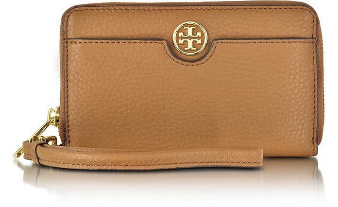 d2d8b551d390 Tory Burch Tigers Eye Robinson Pebbled Smartphone Wristlet Wallet ...