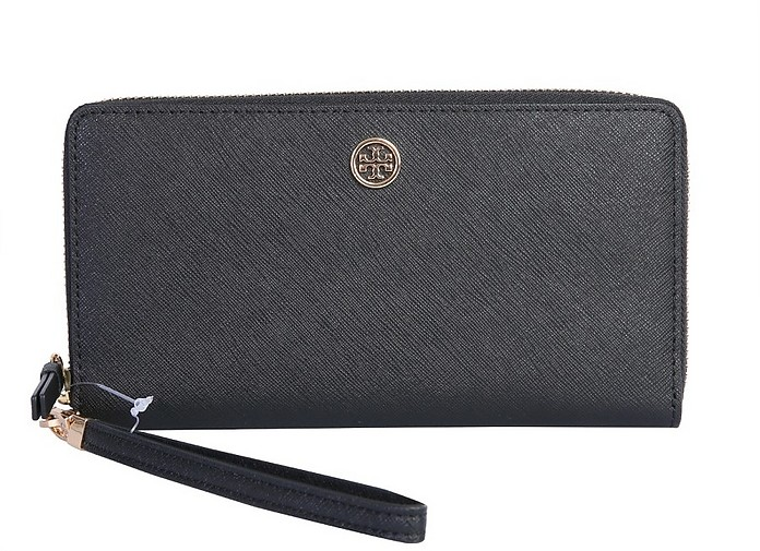 Robinson Saffiano Leather Wallet - Tory Burch