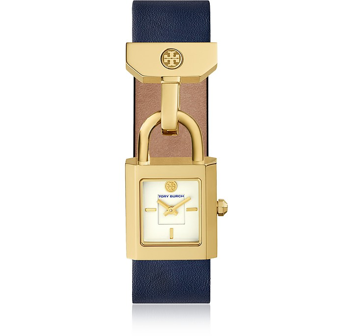 The Surrey Blue Leather Women's Watch - Tory Burch