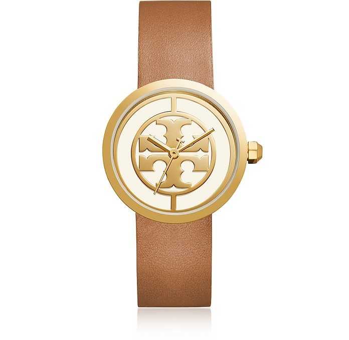 The Reva Luggage Leather Women's Watch - Tory Burch