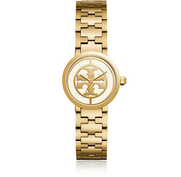 TBW4011 The Reva Gold Tone Stainless Steel 30mm Women's Watch - Tory Burch