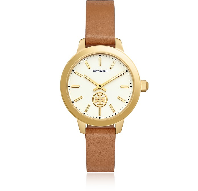 TBW1202 The Collins Luggage Leather Watch - Tory Burch